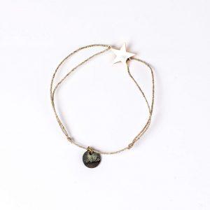 Armband mit Sternchen - gold