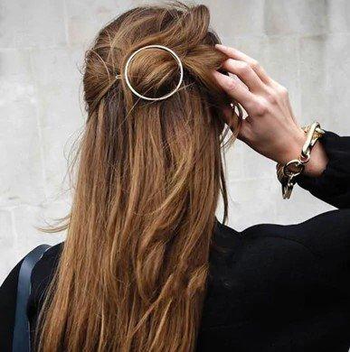Haarspange Rund Silberfarben Alles Interior Boho Scandi Look anitimadeforyou Concept Store Langenfeld Trockenblumen, Trockenblumen Kränze, Workshops, Schmuck