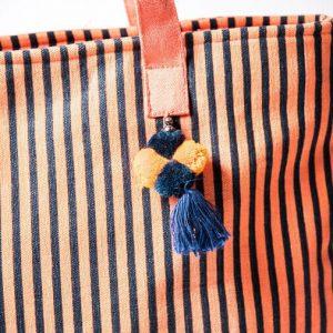 XXL Streifen Shopper Orange Blau Alles Interior Boho Scandi Look anitimadeforyou Concept Store Langenfeld Trockenblumen, Trockenblumen Kränze, Workshops, Schmuck