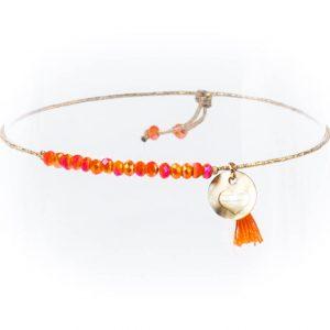 Perlenarmband SANTA Orange Alles Interior Boho Scandi Look anitimadeforyou Concept Store Langenfeld Trockenblumen, Trockenblumen Kränze, Workshops, Schmuck
