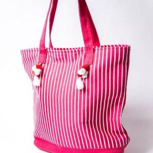 XXL Streifen Shopper Pink Weiß Alles Interior Boho Scandi Look anitimadeforyou Concept Store Langenfeld Trockenblumen, Trockenblumen Kränze, Workshops, Schmuck