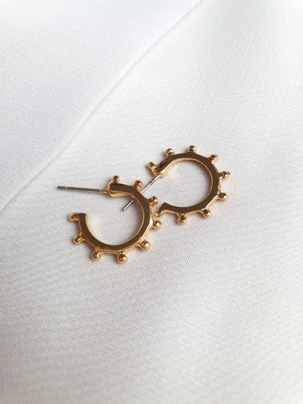 Ohrstecker Chelsea Gold Optik Ohrringe Interior Boho Scandi Look anitimadeforyou Concept Store Langenfeld Trockenblumen, Trockenblumen Kränze, Workshops, Schmuck
