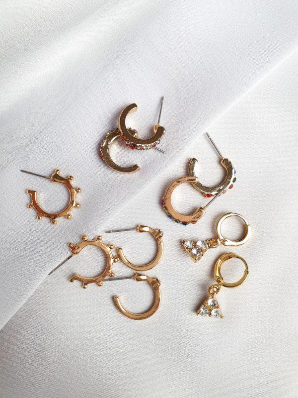 Ohrstecker Boston Gold Optik Ohrringe Interior Boho Scandi Look anitimadeforyou Concept Store Langenfeld Trockenblumen, Trockenblumen Kränze, Workshops, Schmuck