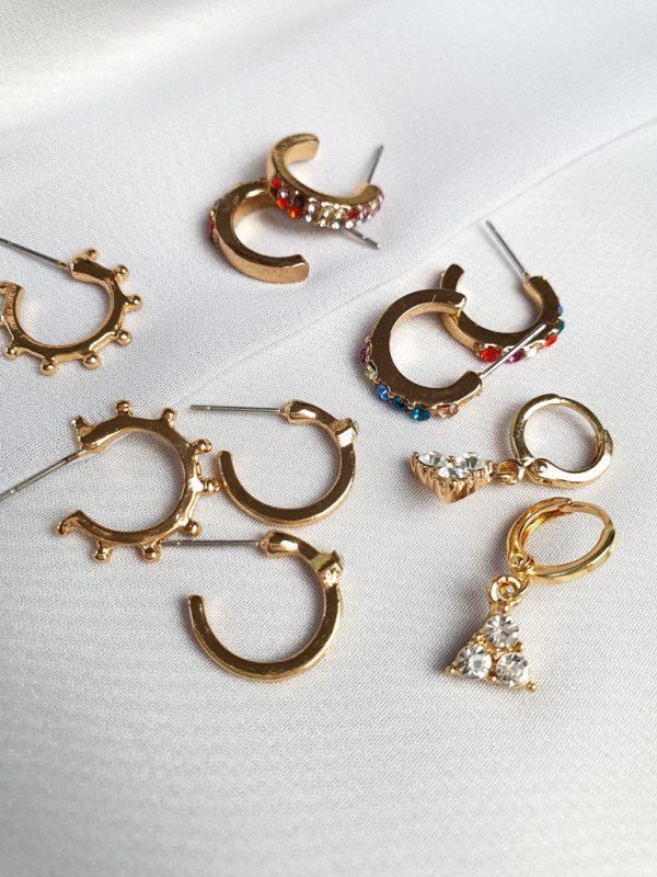 Ohrstecker Manhattan Gold Optik Ohrringe Interior Boho Scandi Look anitimadeforyou Concept Store Langenfeld Trockenblumen, Trockenblumen Kränze, Workshops, Schmuck