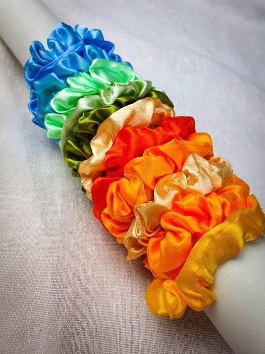 Mini Scrunchies Rainbow Set Alles Interior Boho Scandi Look anitimadeforyou Concept Store Langenfeld Trockenblumen, Trockenblumen Kränze, Workshops, Schmuck