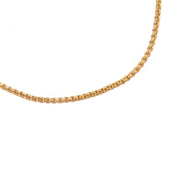 Simple Round Chain 8.0 Edelstahl Halskette vergoldet Alles Interior Boho Scandi Look anitimadeforyou Concept Store Langenfeld Trockenblumen, Trockenblumen Kränze, Workshops, Schmuck
