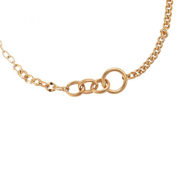 Chained Ring Edelstahl Halskette vergoldet Alles Interior Boho Scandi Look anitimadeforyou Concept Store Langenfeld Trockenblumen, Trockenblumen Kränze, Workshops, Schmuck