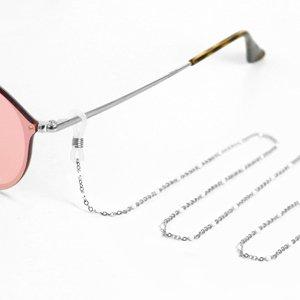 Brillen-Maskenkette White Balls Silber Alles Interior Boho Scandi Look anitimadeforyou Concept Store Langenfeld Trockenblumen, Trockenblumen Kränze, Workshops, Schmuck