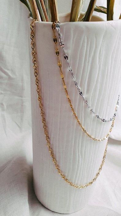 Halskette Dotti Gold und Silber Optik Halsketten Interior Boho Scandi Look anitimadeforyou Concept Store Langenfeld Trockenblumen, Trockenblumen Kränze, Workshops, Schmuck