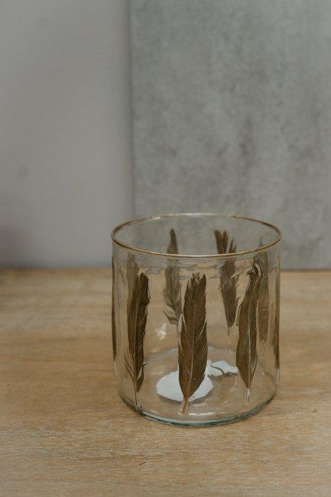 Vase Feder Gold Glas Vasen und Pflanzentöpfe Interior Boho Scandi Look anitimadeforyou Concept Store Langenfeld Trockenblumen, Trockenblumen Kränze, Workshops, Schmuck