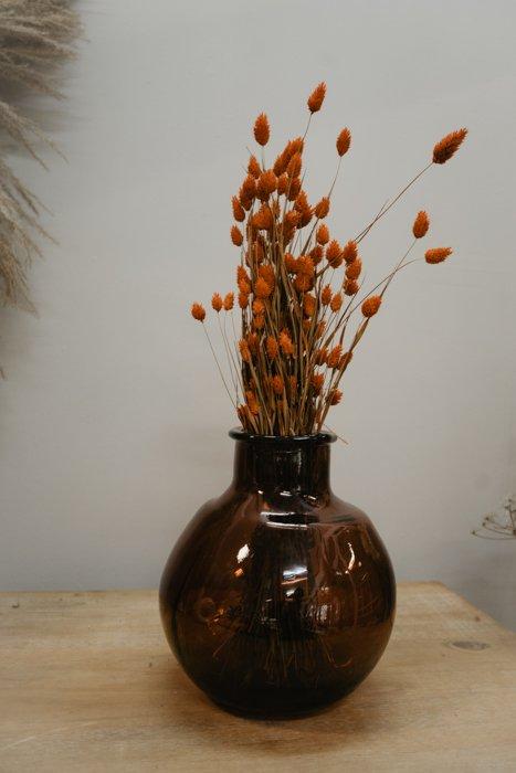 Vase bauchig rot Vasen und Pflanzentöpfe Interior Boho Scandi Look anitimadeforyou Concept Store Langenfeld Trockenblumen, Trockenblumen Kränze, Workshops, Schmuck