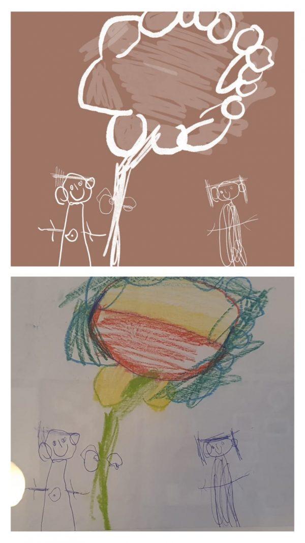 Illustration von Kinderzeichnungen – by Jula Alles Interior Boho Scandi Look anitimadeforyou Concept Store Langenfeld Trockenblumen, Trockenblumen Kränze, Workshops, Schmuck