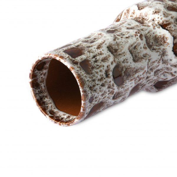 Retro Vase Lava aus Steingut in Weiß und Braun HKLIVING Alles Interior Boho Scandi Look anitimadeforyou Concept Store Langenfeld Trockenblumen, Trockenblumen Kränze, Workshops, Schmuck