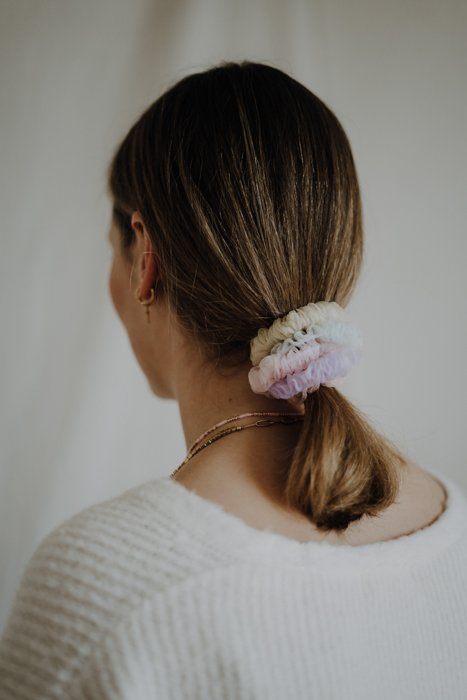 Mini Scrunchies Pastell Chiffon 5er Set Alles Interior Boho Scandi Look anitimadeforyou Concept Store Langenfeld Trockenblumen, Trockenblumen Kränze, Workshops, Schmuck