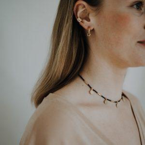 Halskette Perlen Choker Schwarz Coins Alles Interior Boho Scandi Look anitimadeforyou Concept Store Langenfeld Trockenblumen, Trockenblumen Kränze, Workshops, Schmuck