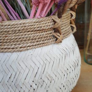 Großer Aufbewahrungskorb aus Seegras Weiß Alles Interior Boho Scandi Look anitimadeforyou Concept Store Langenfeld Trockenblumen, Trockenblumen Kränze, Workshops, Schmuck