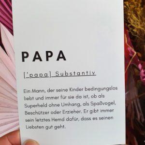 Postkarte Papa Alles Interior Boho Scandi Look anitimadeforyou Concept Store Langenfeld Trockenblumen, Trockenblumen Kränze, Workshops, Schmuck