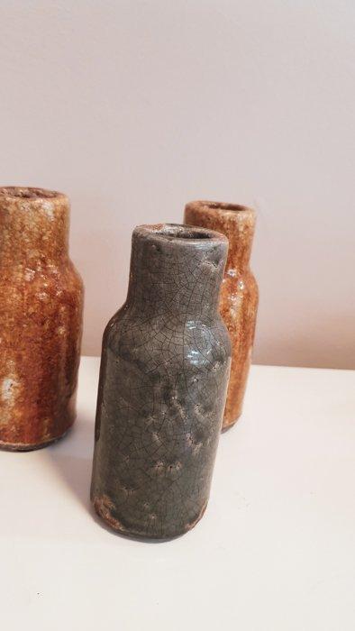 Mini Vase Stein braun und grün Alles Interior Boho Scandi Look anitimadeforyou Concept Store Langenfeld Trockenblumen, Trockenblumen Kränze, Workshops, Schmuck