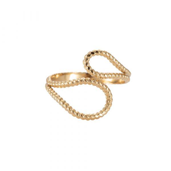Wilma Edelstahl Ring vergoldet Alles Interior Boho Scandi Look anitimadeforyou Concept Store Langenfeld Trockenblumen, Trockenblumen Kränze, Workshops, Schmuck