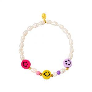 Perlen Armband- Smiley Kollektion Pink Gelb Flieder Alles Interior Boho Scandi Look anitimadeforyou Concept Store Langenfeld Trockenblumen, Trockenblumen Kränze, Workshops, Schmuck