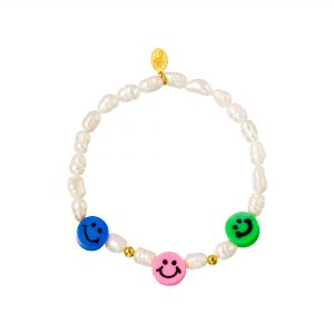 Perlen Armband- Smiley Kollektion Blau Grün Rosa Alles Interior Boho Scandi Look anitimadeforyou Concept Store Langenfeld Trockenblumen, Trockenblumen Kränze, Workshops, Schmuck