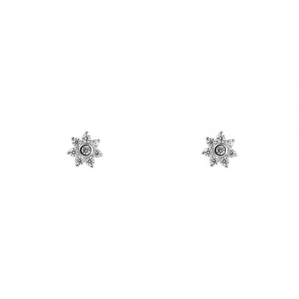 Ohrstecker Mini Blume Gold und Silber Alles Interior Boho Scandi Look anitimadeforyou Concept Store Langenfeld Trockenblumen, Trockenblumen Kränze, Workshops, Schmuck