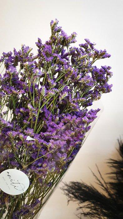 Getrocknete Reisblume Blau/Lila Alles Interior Boho Scandi Look anitimadeforyou Concept Store Langenfeld Trockenblumen, Trockenblumen Kränze, Workshops, Schmuck