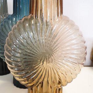 Glas Vase Sunny braun, blau, schwarz Alles Interior Boho Scandi Look anitimadeforyou Concept Store Langenfeld Trockenblumen, Trockenblumen Kränze, Workshops, Schmuck