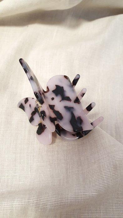 Haarklammer Schmetterlings Schwarz Weiß