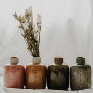 Vase Keramik Mini verschiedene Farben Alles Interior Boho Scandi Look anitimadeforyou Concept Store Langenfeld Trockenblumen, Trockenblumen Kränze, Workshops, Schmuck