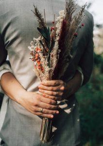 Individuelle Hochzeitsdekoration, Hochzeitsstrauss, Ansteckblume
