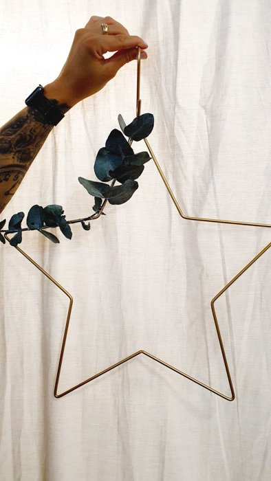 Metallstern dekoriert silber Alles Interior Boho Scandi Look anitimadeforyou Concept Store Langenfeld Trockenblumen, Trockenblumen Kränze, Workshops, Schmuck