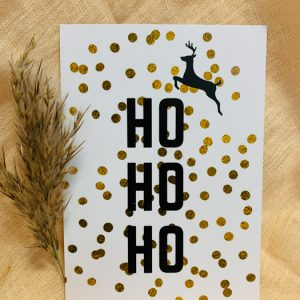 Postkarte Ho Ho Ho Konfetti Alles Interior Boho Scandi Look anitimadeforyou Concept Store Langenfeld Trockenblumen, Trockenblumen Kränze, Workshops, Schmuck