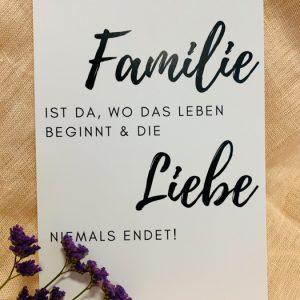 Postkarte Familie Alles Interior Boho Scandi Look anitimadeforyou Concept Store Langenfeld Trockenblumen, Trockenblumen Kränze, Workshops, Schmuck