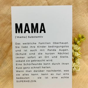 Postkarte Mama Alles Interior Boho Scandi Look anitimadeforyou Concept Store Langenfeld Trockenblumen, Trockenblumen Kränze, Workshops, Schmuck